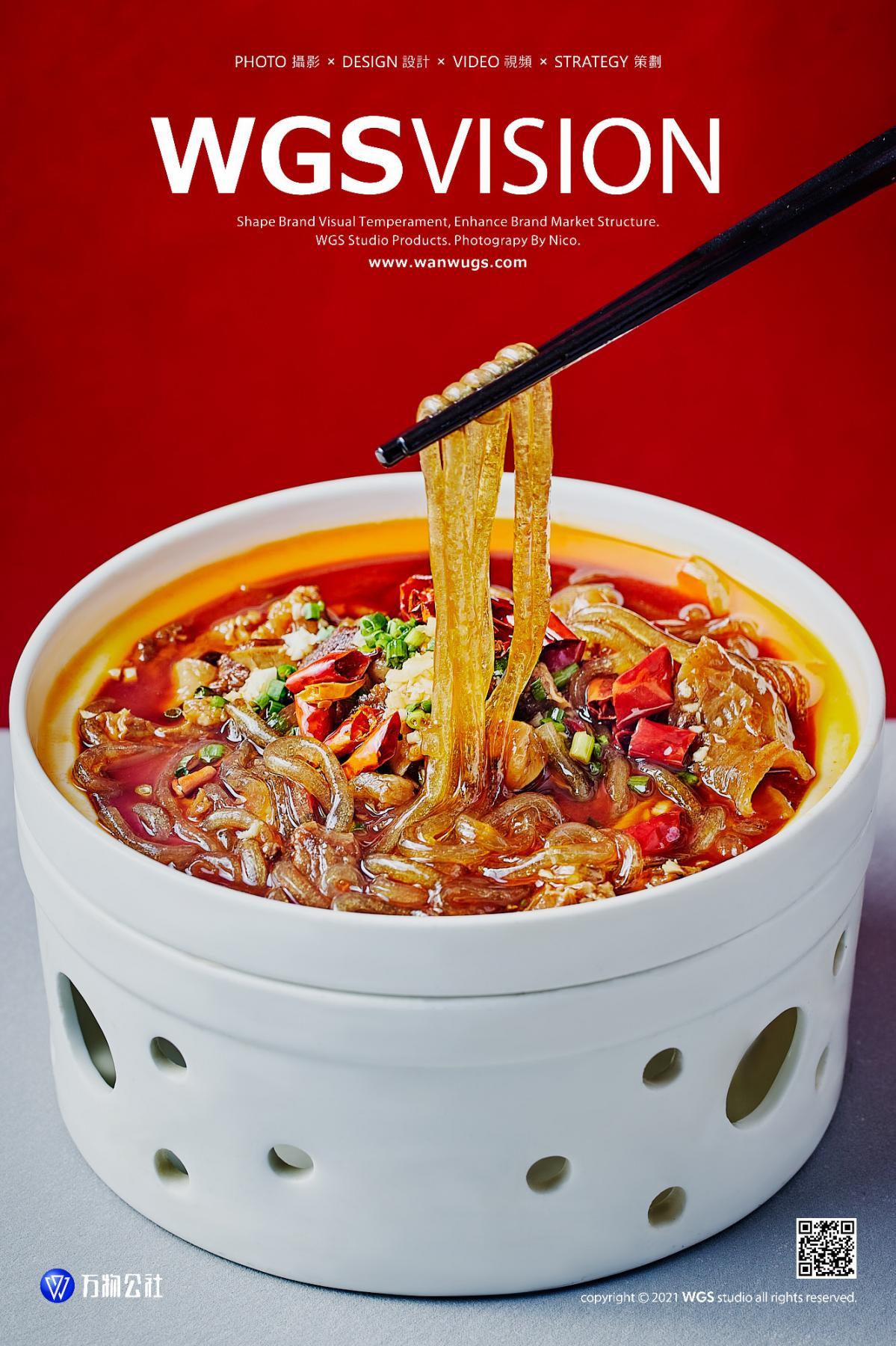 红色背景及简风美食摄影